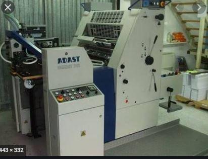 Single Colour Offset Printing Machine Adast 715