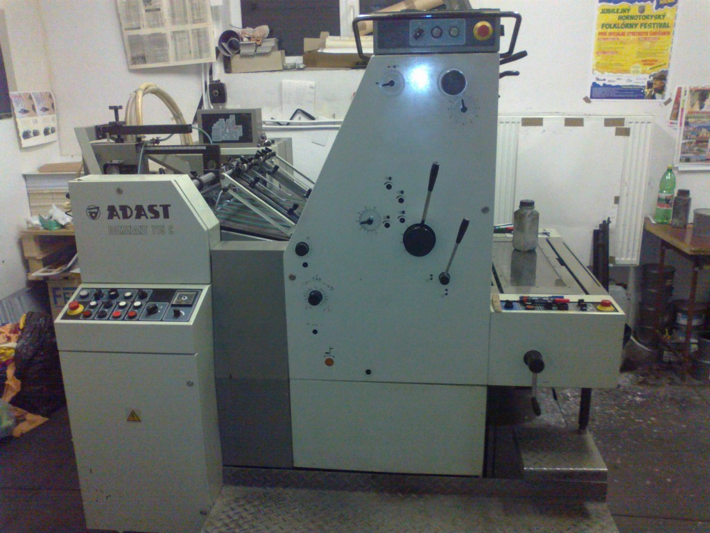 Single Colour Offset Printing Machine Adast 715 Suppliers in Ashoknagar
