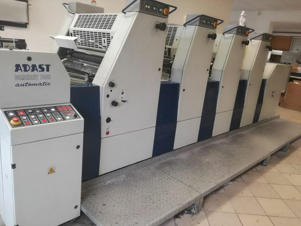 Four Colour Offset Printing Machine Adast 745 Suppliers in Ghaziabad