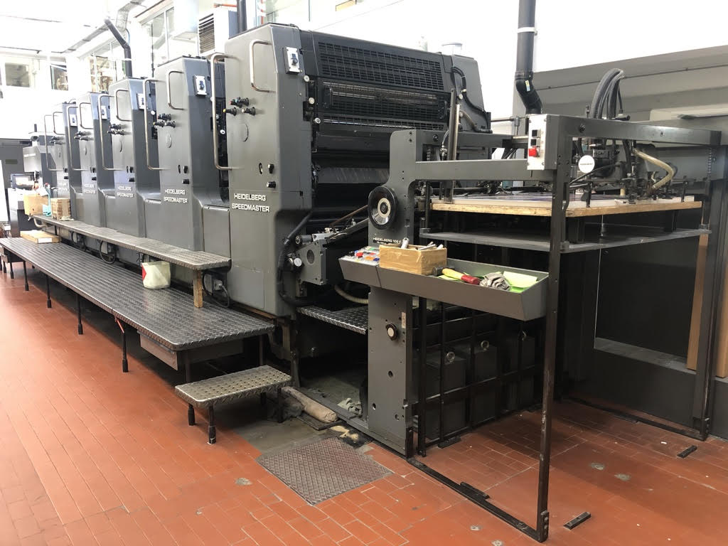 Five Colour Offset Printing Machine Sm 102 F Suppliers in Moradabad