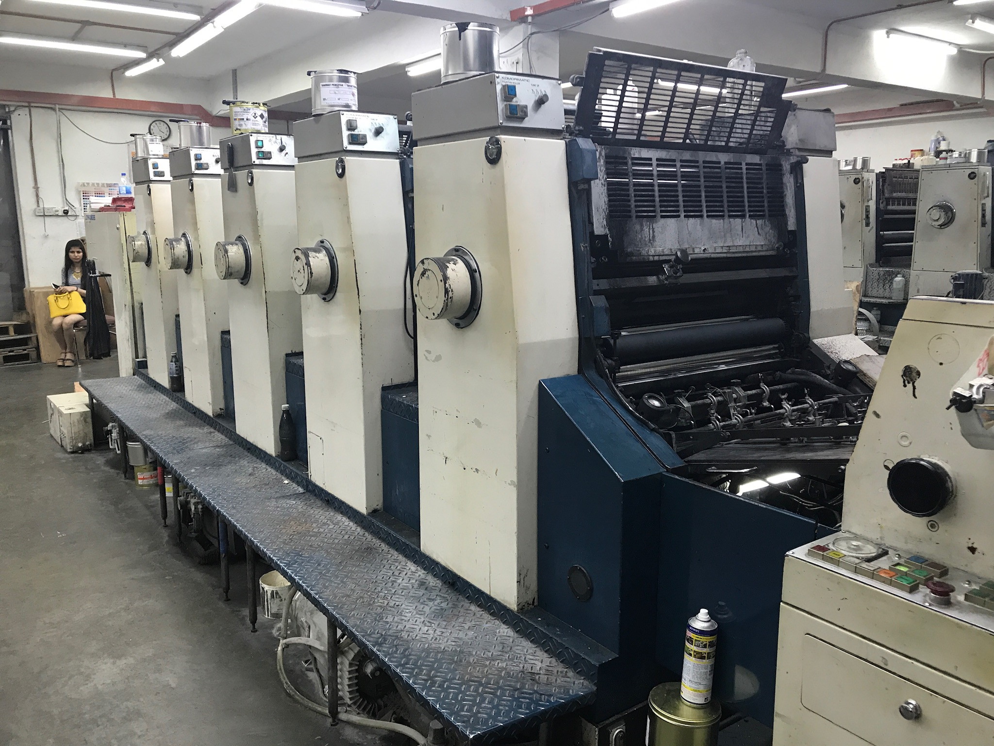 Five Colour Offset Printing Machine Komori L 532 Suppliers in Shivpuri